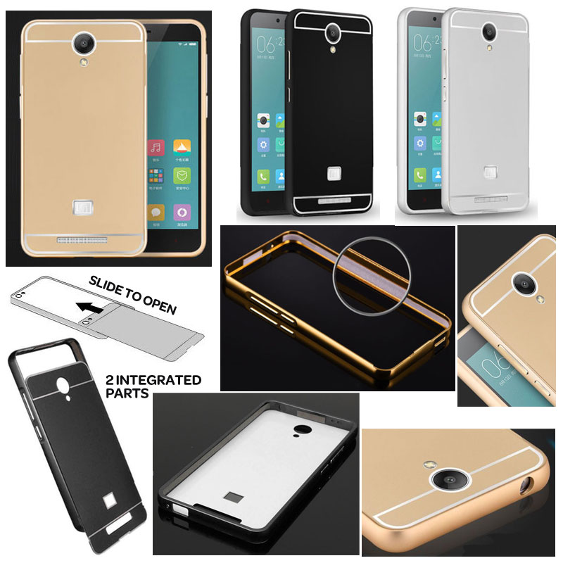 Xiaomi RedMi Note 2 - Metal Slide Hard Case - Bungkusgan.com