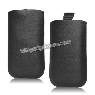 * Pulltab Lychee Texture Leather Pouch 5.0inch (S4)