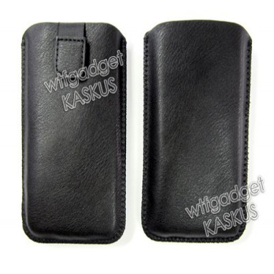 * Pulltab Smooth Leather Pouch 4.7inch (i9300)