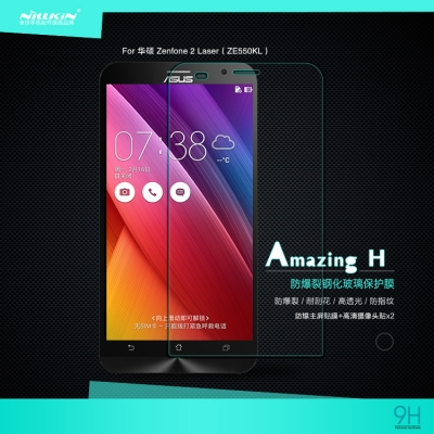 ^ Asus Zenfone 2 Laser 5.5 ZE550KL - Nillkin Anti-Explosion H Tempered Glass Screen Protector
