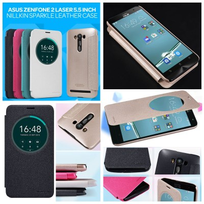 ^ Asus Zenfone 2 Laser 5.5 ZE550KL - Nillkin Sparkle Leather Case