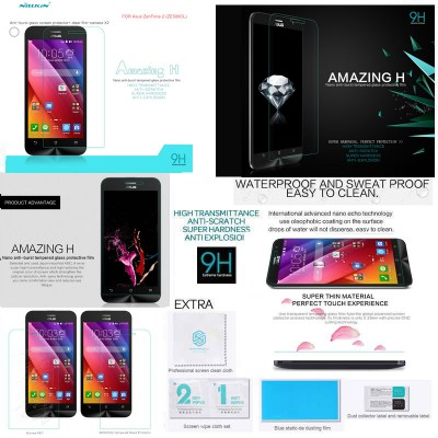 $ Asus Zenfone 2 5.0 ZE500CL - Nillkin Anti-Explosion H Tempered Glass Screen Protector