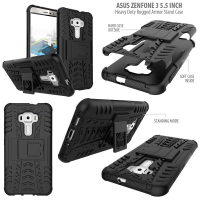 ^ Asus Zenfone 3 5.5 inch ZE552KL - Heavy Duty Rugged Armor Stand Case