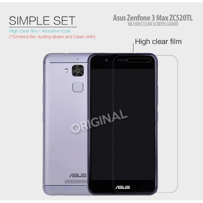 ^ Asus Zenfone 3 Max 5.2 inch ZC520TL - Nillkin Clear Screen Guard }