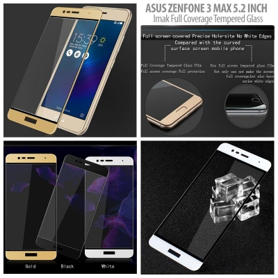 ^ Asus Zenfone 3 Max 5.2 inch ZC520TL - Imak Full Coverage Tempered Glass