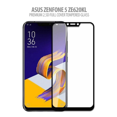 ^ Asus Zenfone 5 ZE620KL - Premium 2.5D Full Cover Tempered Glass