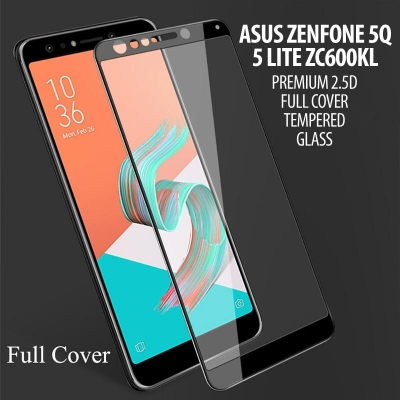 ^ Asus Zenfone 5Q / 5 lite ZC600KL - Premium 2.5D Full Cover Tempered Glass