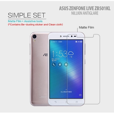 ^ Asus Zenfone Live 5.0 ZB501KL - Nillkin Antiglare Screen Guard }