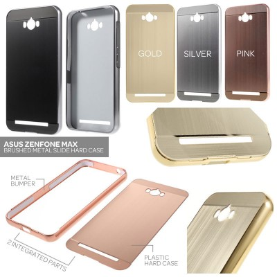^ Asus Zenfone Max - Brushed Metal Slide Hard Case