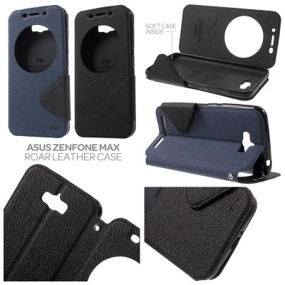 ^ Asus Zenfone Max - Roar Window Leather Case