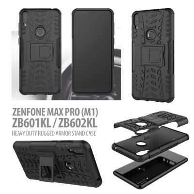 ^ Asus Zenfone Max Pro M1 ZB601KL / ZB602KL - Heavy Duty Rugged Armor Stand Case }