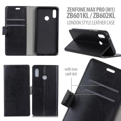 ^ Asus Zenfone Max Pro M1 ZB601KL ZB602KL - London Style Leather Case