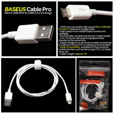 * Baseus Cable Pro - Micro USB 5Pin to USB 2.0