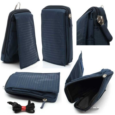 * Universal Blue Zipper Bag With Fold Cover 5.5inch