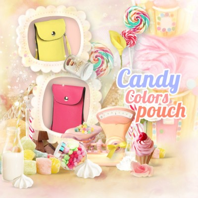 * Candy Color Pouch - Simple Pouch With Chain Strap 4.7inch (Z5 Compact)