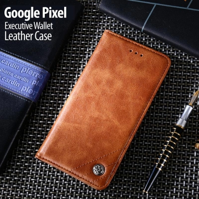 ^ Google Pixel - Executive Wallet Leather Case