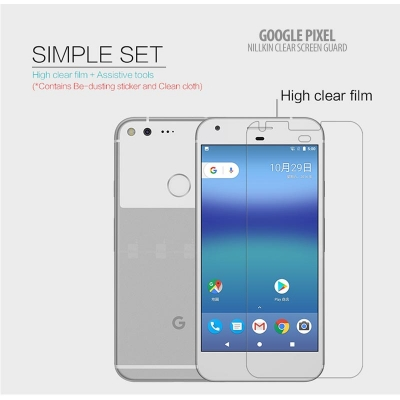 ^ Google Pixel - Nillkin Clear Screen Guard }