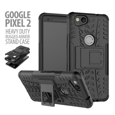 ^ Google Pixel 2 - Heavy Duty Rugged Armor Stand Case