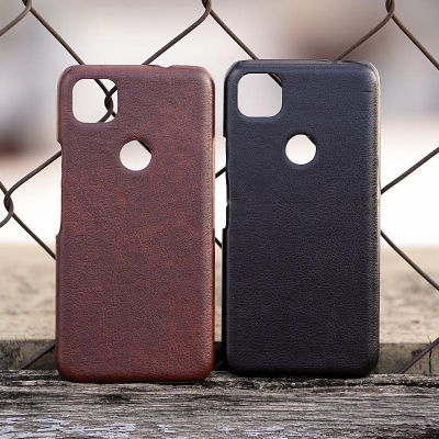 Google Pixel 4A - Leather Covered Hard Case