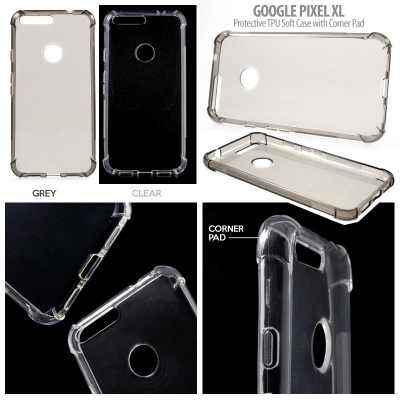^ Google Pixel XL - Protective TPU Soft Case with Corner Pad