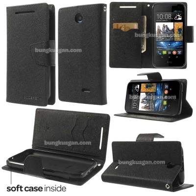 $ HTC Desire 310 - Mercury Goospery Two Tone Leather Case