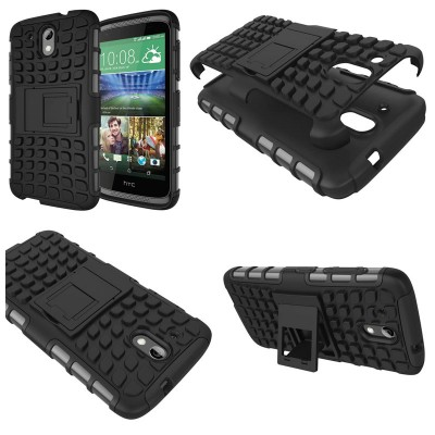 ^ HTC Desire 526G / Desire 526 - Heavy Duty Rugged Armor Stand Case