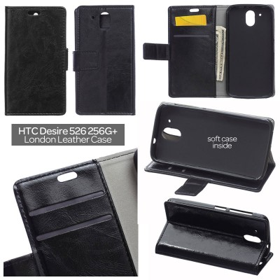 * HTC Desire 526G / Desire 526 - London Style Leather Case