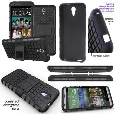 ^ HTC Desire 620 - Heavy Duty Rugged Armor Stand Case