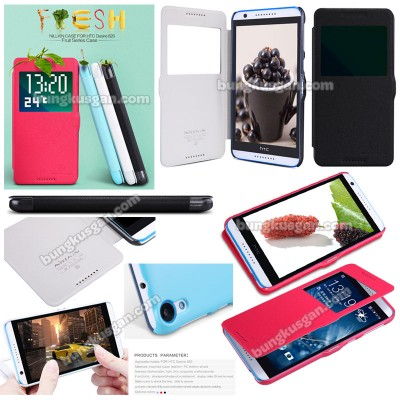 $ HTC Desire 820 - Nillkin Fresh Series Leather Case