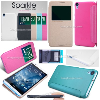 $ HTC Desire 820 - Nillkin Sparkle Leather Case