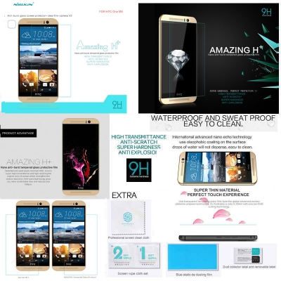 ^ HTC One M9 - Nillkin Anti-Explosion H Plus Pro Tempered Glass Screen Protector