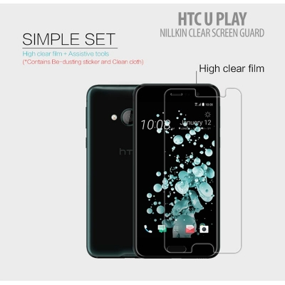 ^ HTC U Play - Nillkin Clear Screen Guard }