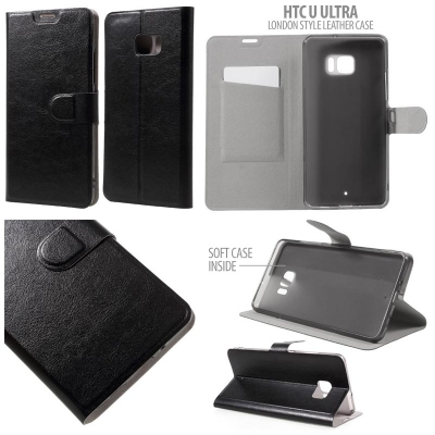 NR HTC U Ultra - London Style Leather Case