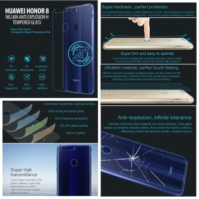 ^ Huawei Honor 8 - Nillkin Anti-Explosion H Tempered Glass Screen Protector }