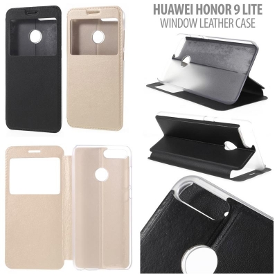 * Huawei Honor 9 Lite - Window Leather Case }