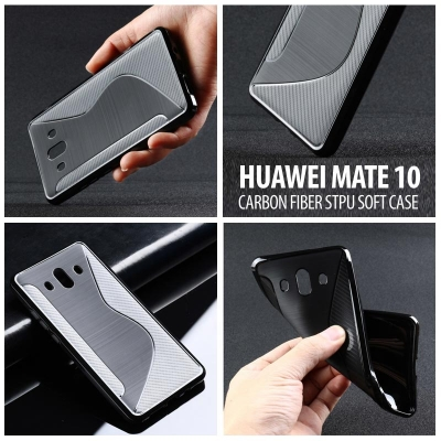 ^ Huawei Mate 10 - Carbon Fiber STPU Soft Case