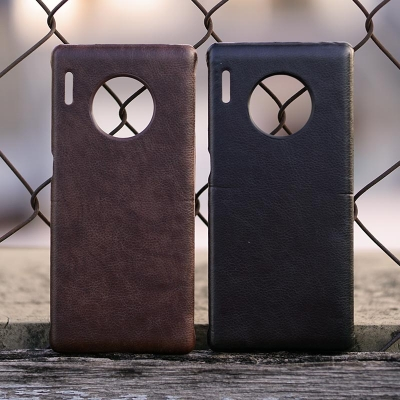 Huawei Mate 30 Pro - Leather Covered Hard Case