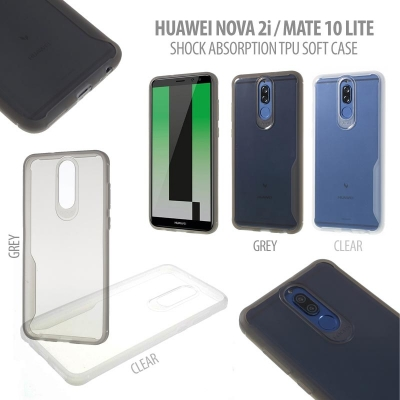 * Huawei Nova 2i - Mate 10 Lite - Shock Absorption TPU Soft Case