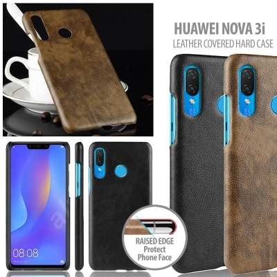^ Huawei Nova 3i - Leather Covered Hard Case