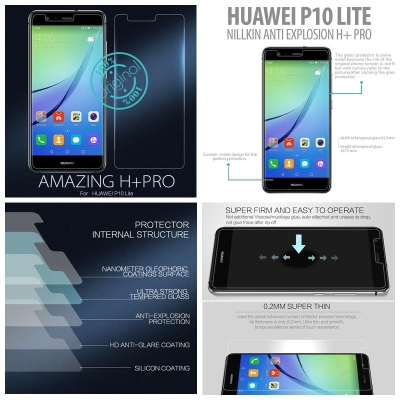 ^ Huawei P10 Lite - Nillkin Anti-Explosion H Plus Pro Tempered Glass Screen Protector }