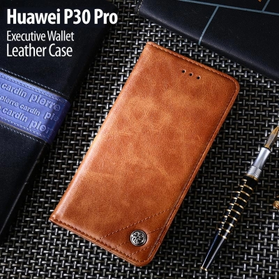 ^ Huawei P30 Pro - Executive Wallet Leather Case