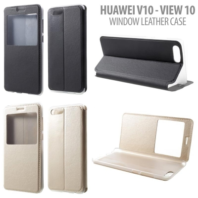 * Huawei Honor V10 - View 10 - Window Leather Case }