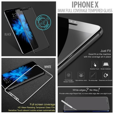 ^ Iphone X - Imak Full Coverage Tempered Glass }
