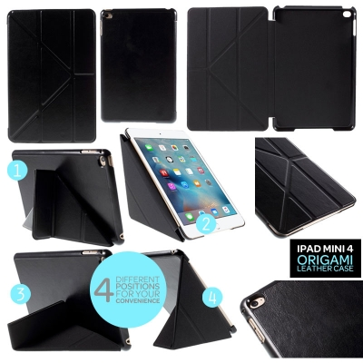 ^ iPad Mini 4 - Origami Stand Leather Case }