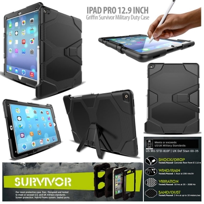 ^ iPad Pro 12.9 inch - Griffin Survivor Defender Case }