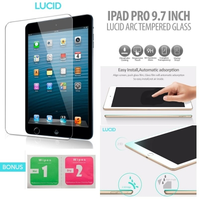 ^ iPad Pro 9.7 inch - Lucid Arc Tempered Glass }