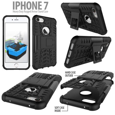 ^ iPhone 7 / Iphone 8 - Heavy Duty Rugged Armor Stand Case