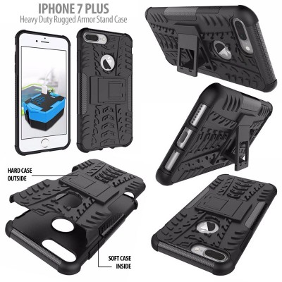 ^ iPhone 7 Plus 8 Plus - Heavy Duty Rugged Armor Stand Case }