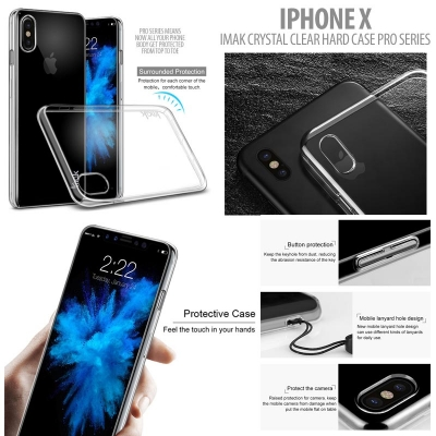 ^ Iphone X - Imak Crystal Clear Hard Case Pro Series }