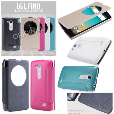 ^ LG L Fino - Nillkin Sparkle Series Leather Case